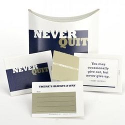 Never Quit Little Pop-Open Note Cards