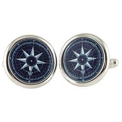 Nautical Compass Rose Cufflinks