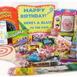 Happy Birthday Retro Gift Basket Box
