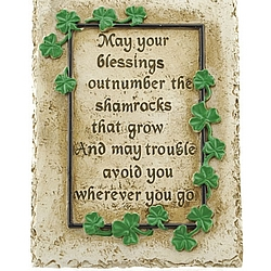 May Your Blessings Garden Plaque