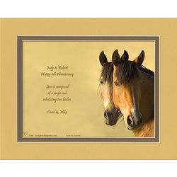 Anniversary Poem Personalized Horses Print