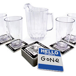 Pitcher and Pint Glasses Set