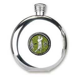 Golf Themed Round Flask