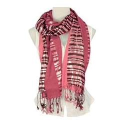 Metallic Two Tone Zebra Scarf