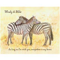 Loving Zebras Personalized Print