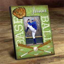 Personalized Kid's Baseball Picture Frame