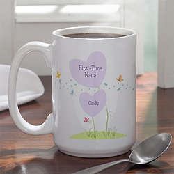 New Grandma Personalized Large Coffee Mug