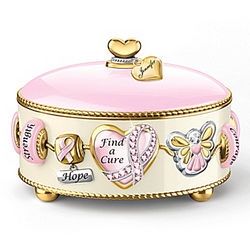 Personalized Breast Cancer Support Music Box