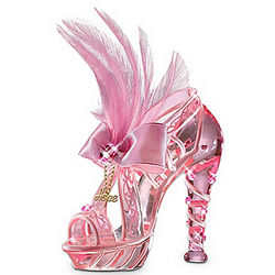 Reflections of Hope Breast Cancer Awareness Glass Shoe