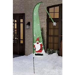 Santa Applique Holiday Banner Flag