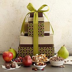 Fruit, Nuts and Candy Gift Tower