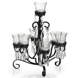 7 Light French Tableabra with Jewel Accent