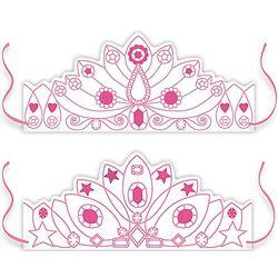 Color-In Princess Crowns