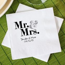 50 Personalized Bridal Napkins