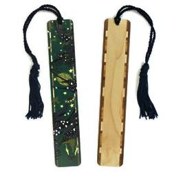Starlings Night Sky Wood Bookmark with Tassel