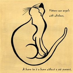 Angel Kitten Art Print