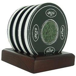 New York Jets Logo and Turf Coasters