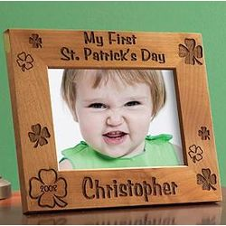 My First St. Patrick's Day Picture Frame
