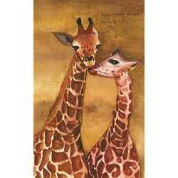 Loving Giraffes Personalized Print