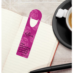 Personalized Ruby Rose Bookmark