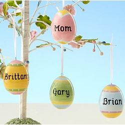 Personalized Easter Egg Ornament