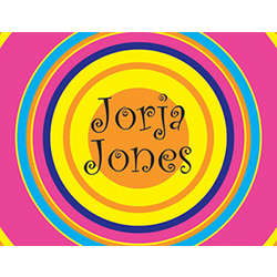 Groovy Circles Personalized Notecards