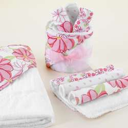 Fun Flowers Baby Bath Gift Set