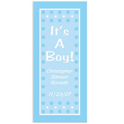 Personalized It's a Boy Door Cover