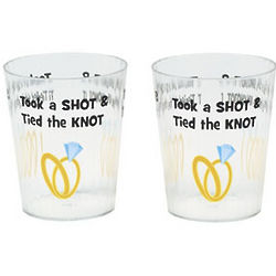 Took A Shot & Tied The Knot Shot Glasses