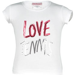 Girl's Sequined Love Tennis T-Shirt