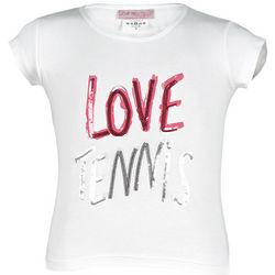 Girl's Sequined Love Tennis T-Shirt