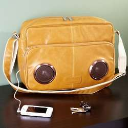 Rock My Way Latte Speaker Messenger Bag