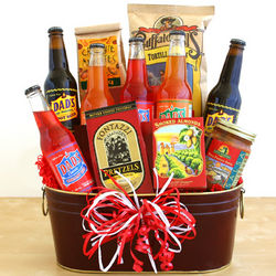 The Way to His Heart Soda and Snacks Gift Basket
