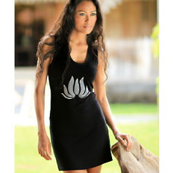 Lotus Flames Jersey Dress