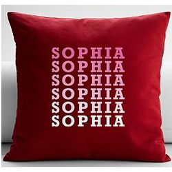 Personalized Name Repeat Throw Pillow Cover