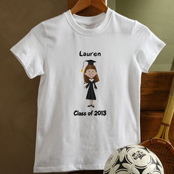 Kid's Personalized Graduation Characters T-Shirt