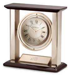 Globe Column Desk Clock