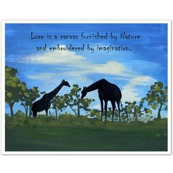 Plains Giraffes Personalized Art Print