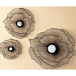 Handcrafted Metal Flowers with Mirror Center