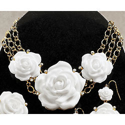 3D Roses Necklace