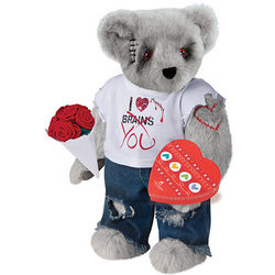 """15"""" Zombie Teddy Bear with Roses and Chocolates"""
