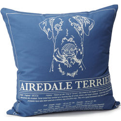 Handcrafted Dog Blueprint Pillow