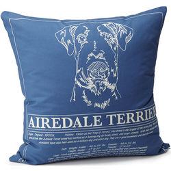 Handcrafted Dog Blueprint Pillow