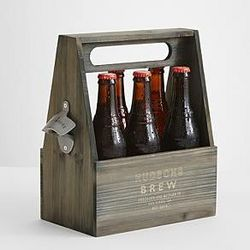 Any Message Wooden Beer Holder