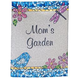 Personalized Mosaic Floral Garden Flag