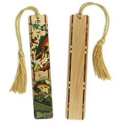 Trout Wood Bookmark with Tassel
