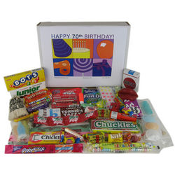 70th Birthday Gift Box of Retro Candy