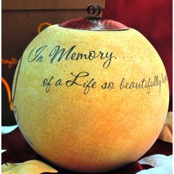 """""""In Memory of a Life"""" Memorial Candle"""