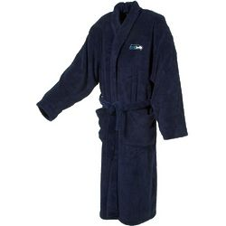Seattle Seahawks Men's Ultra Plush Bathrobe in Navy
