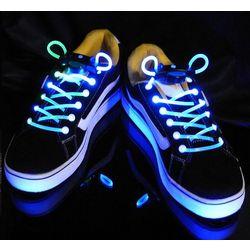 LED Light Up Disco Flash Lite Glow Stick Neon Shoelaces